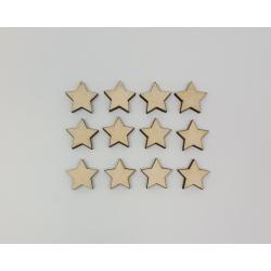 """Dekoracijų rinkinys """"Žvaigždutės"""" 12vnt"""