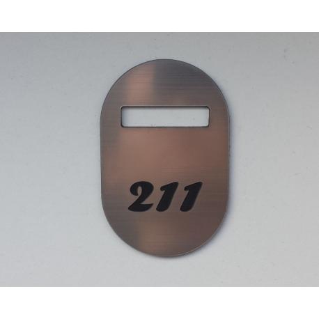 Rūbinės numeriukas 3mm storio