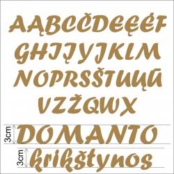Medinės raidės 3cm DIDŽIOSIOS
