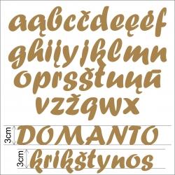 Medinės raidės 3cm mažosios