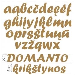 Medinės raidės 5cm mažosios