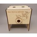 """Dėžutė sultims su užrašu """"Boso išminties nektaras"""""""